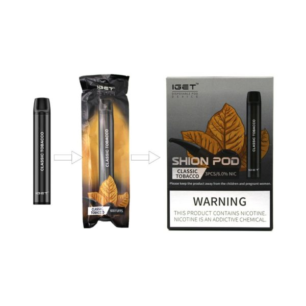 IGET 3 pack - Classic Tobacco